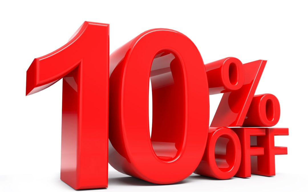 January 10% discount offer